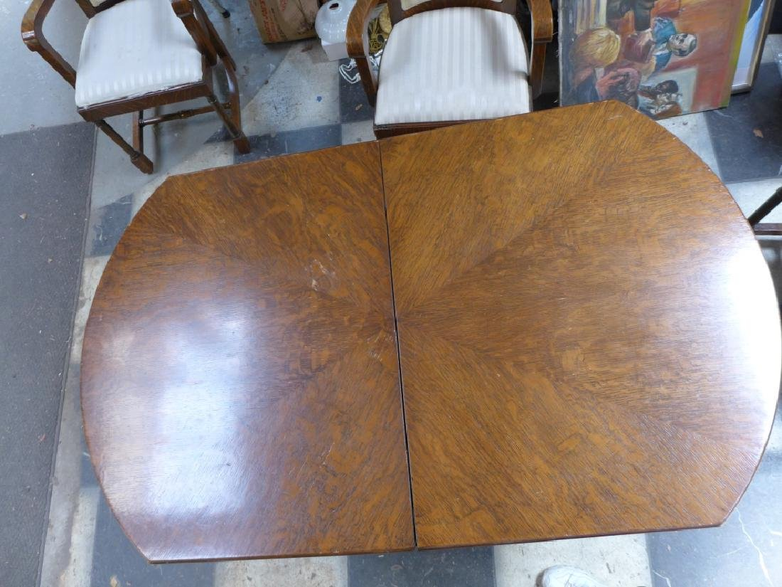 Solid Tiger Oak Expanding Table - 7