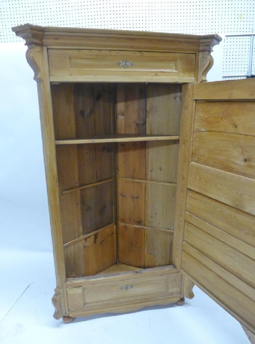 Antique Pine Corner Cabinet - 2
