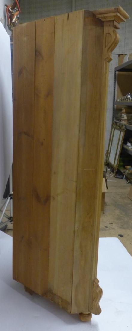 Antique Pine Corner Cabinet - 3