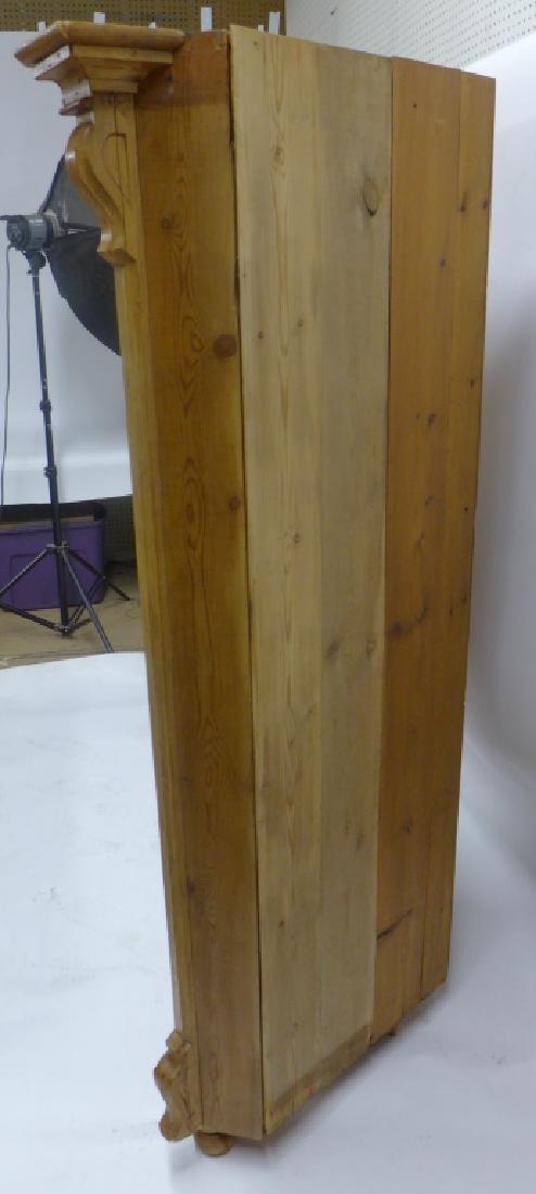 Antique Pine Corner Cabinet - 4