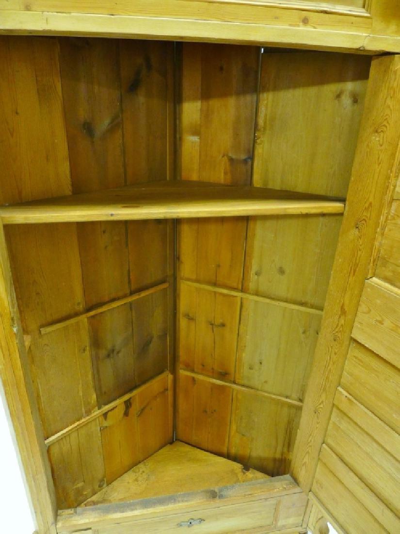 Antique Pine Corner Cabinet - 5