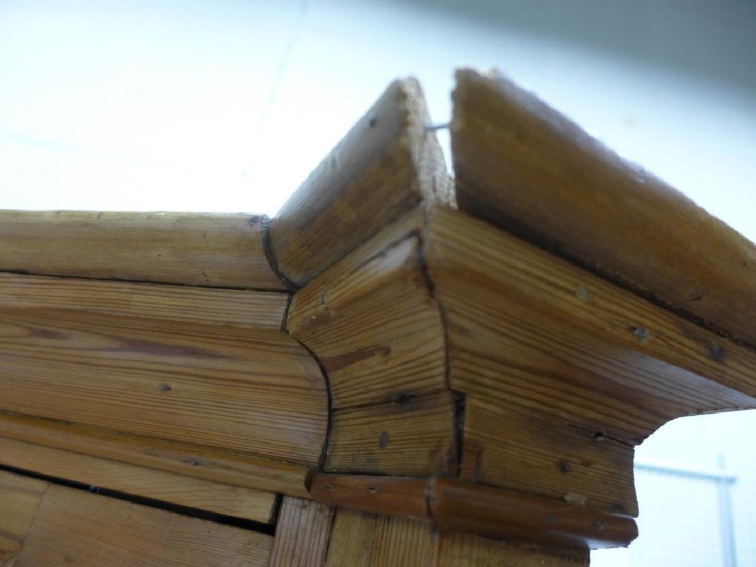 Antique Pine Corner Cabinet - 7