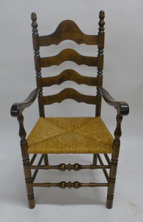 Set of Six Ladderback Chairs - 2