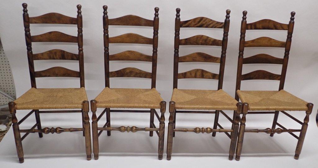 Set of Six Ladderback Chairs - 7