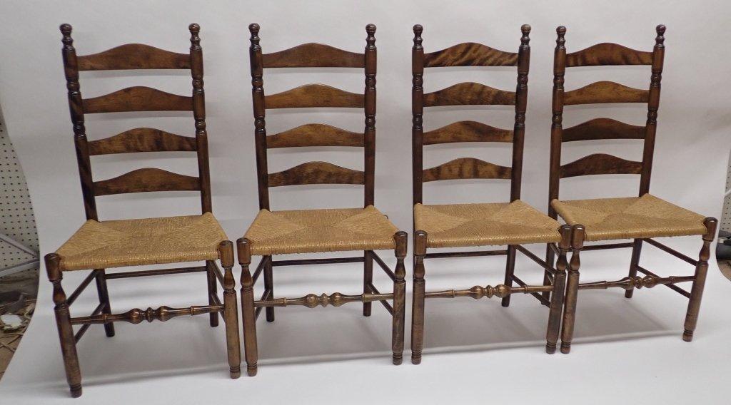 Set of Six Ladderback Chairs - 9