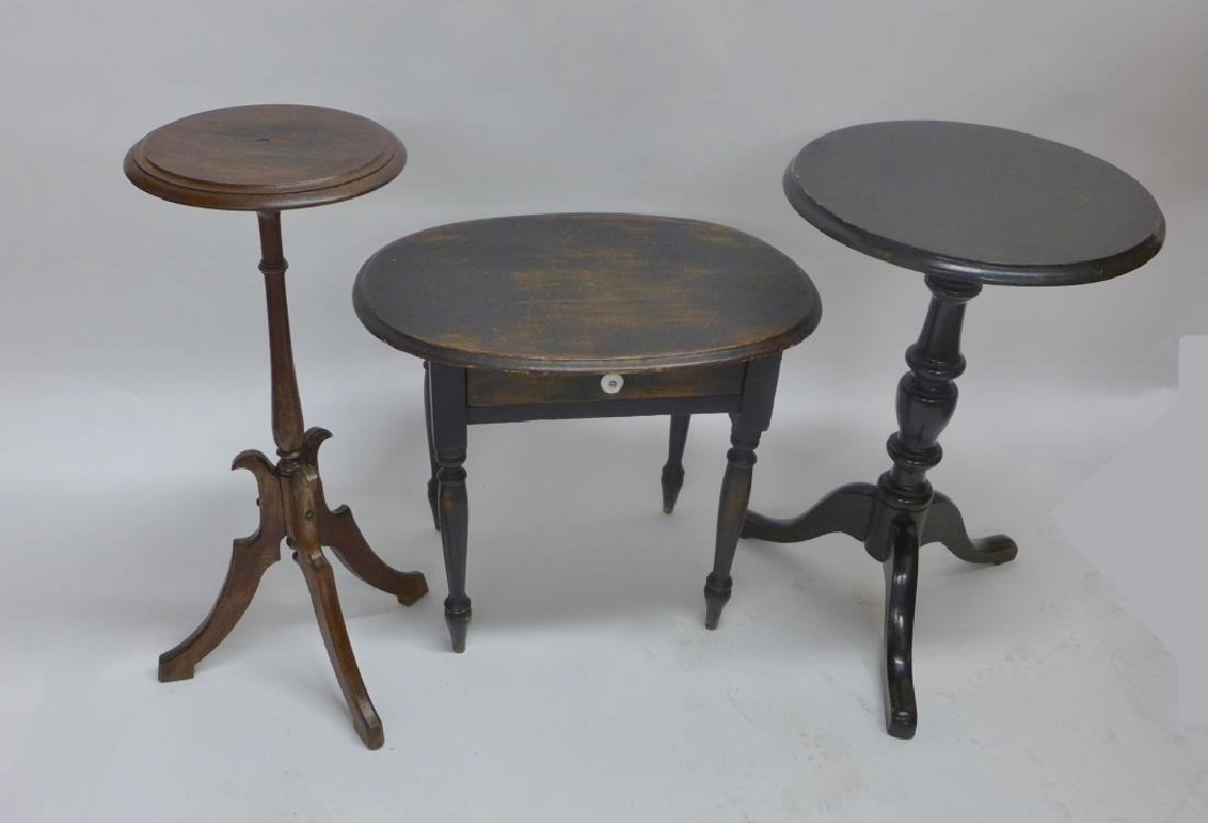 Collection of Dark Wood Early Side Tables