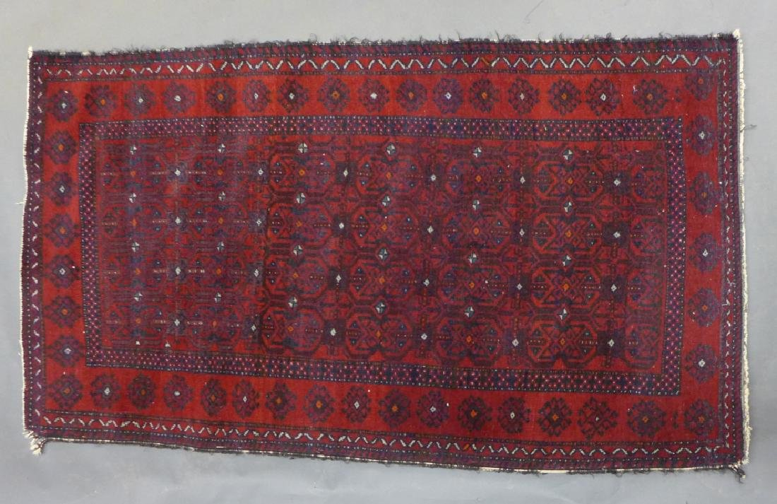 Red Balouch Persian Area Rug