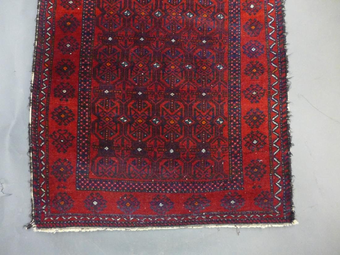 Red Balouch Persian Area Rug - 2