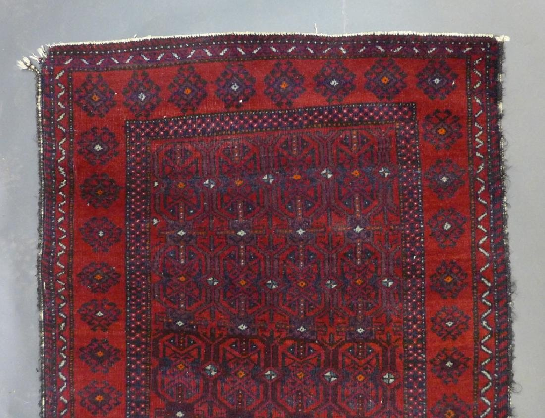 Red Balouch Persian Area Rug - 3