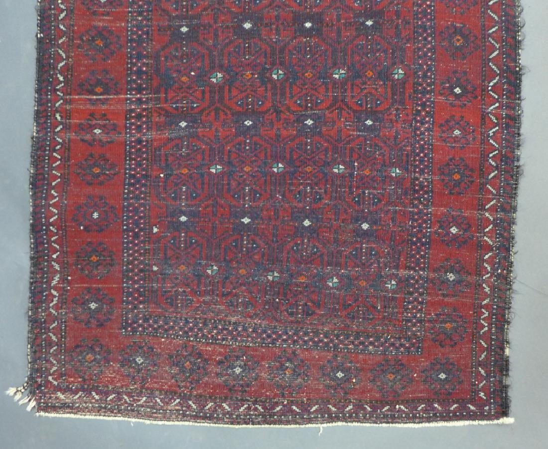 Red Balouch Persian Area Rug - 8