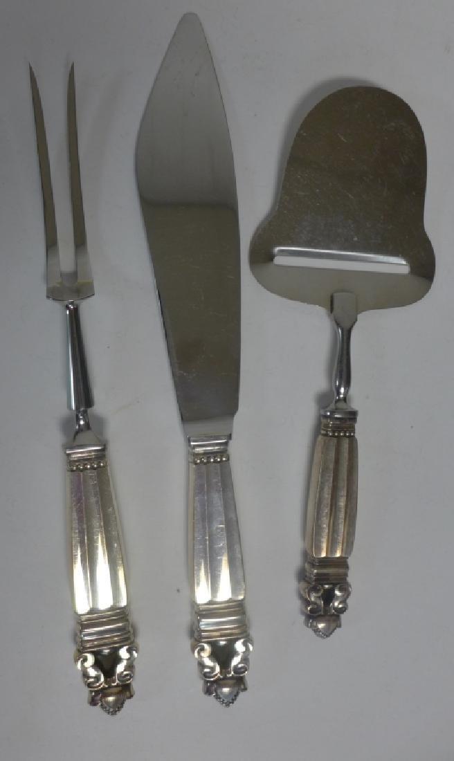 Georg Jensen Sterling Silver Acorn Cutlery Set