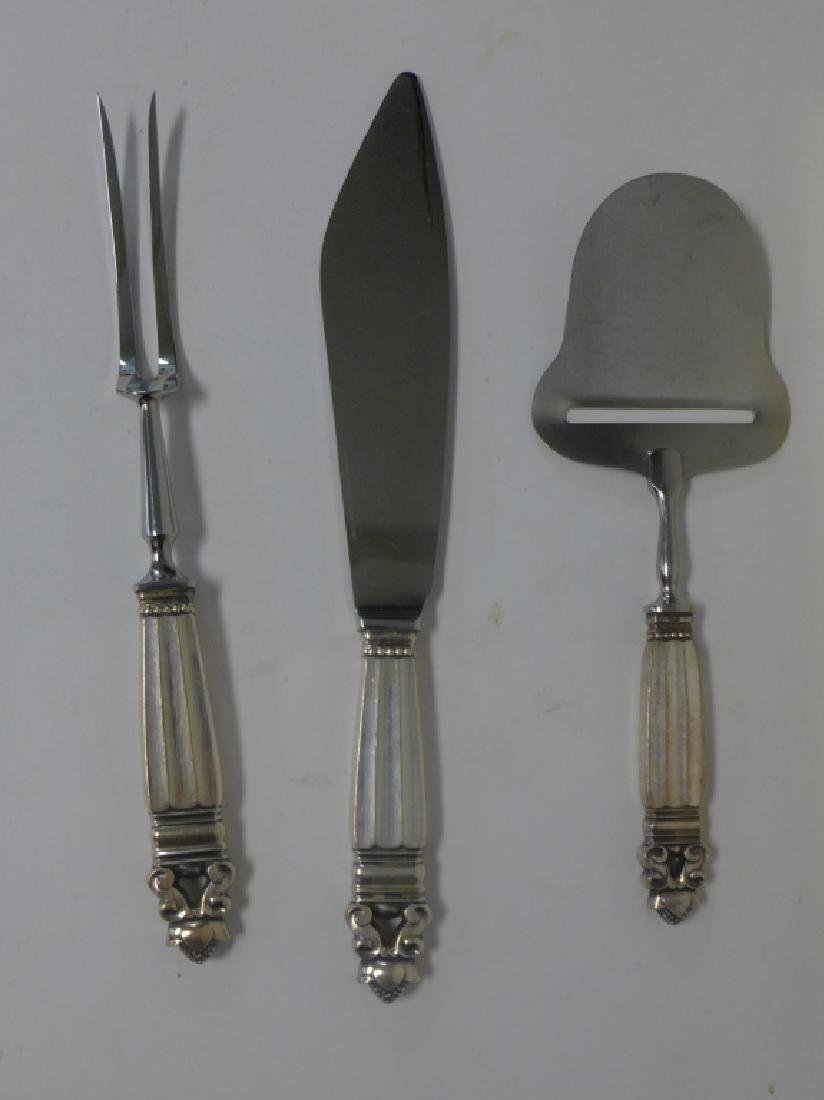 Georg Jensen Sterling Silver Acorn Cutlery Set - 8
