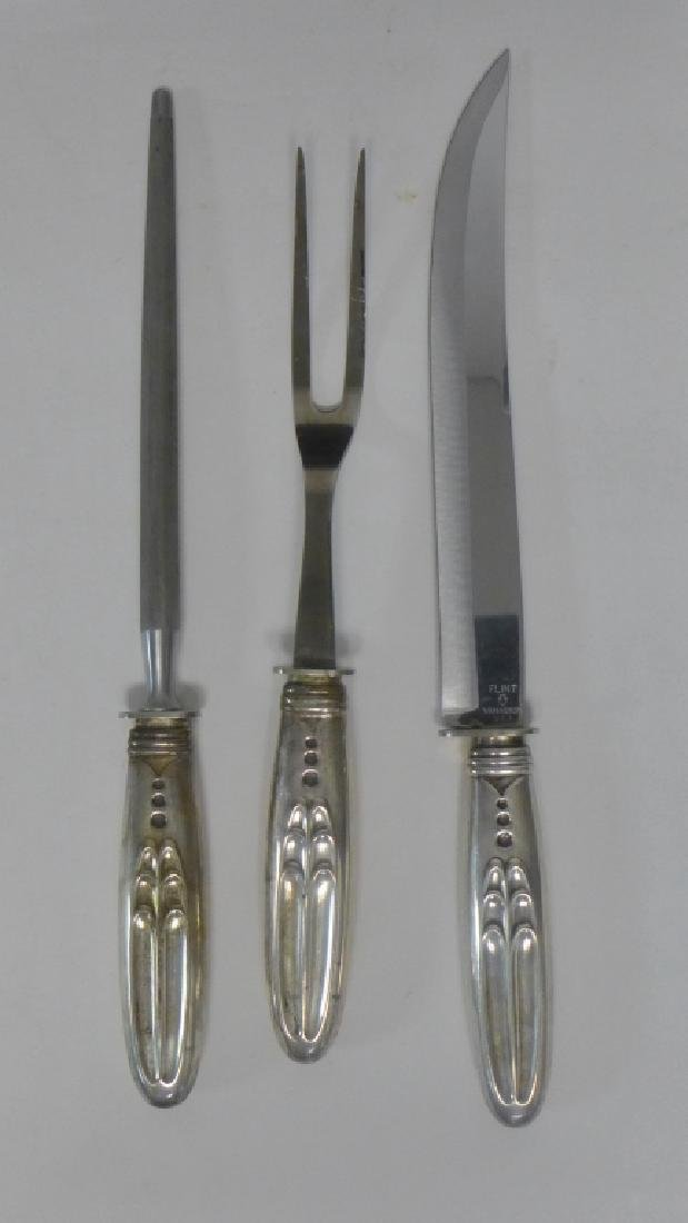 Flint Sterling Silver Carving Set - 2