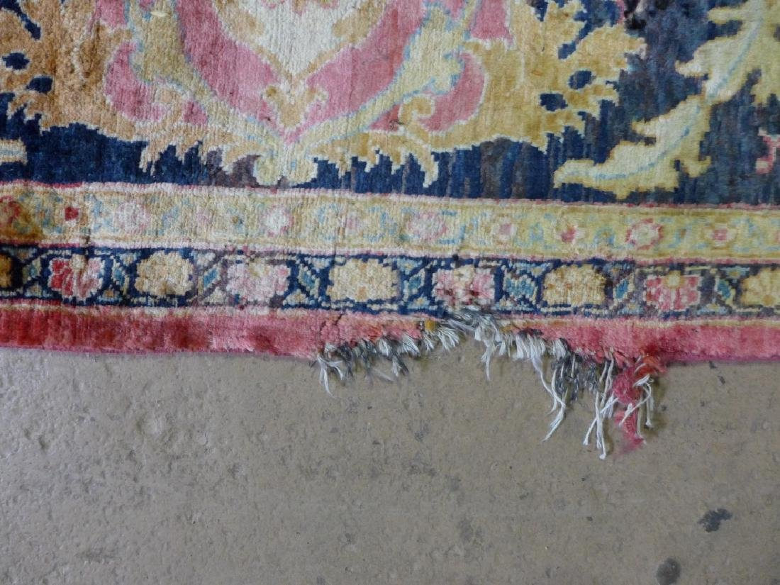Silk on Cotton Rug with Floral Motif - 4