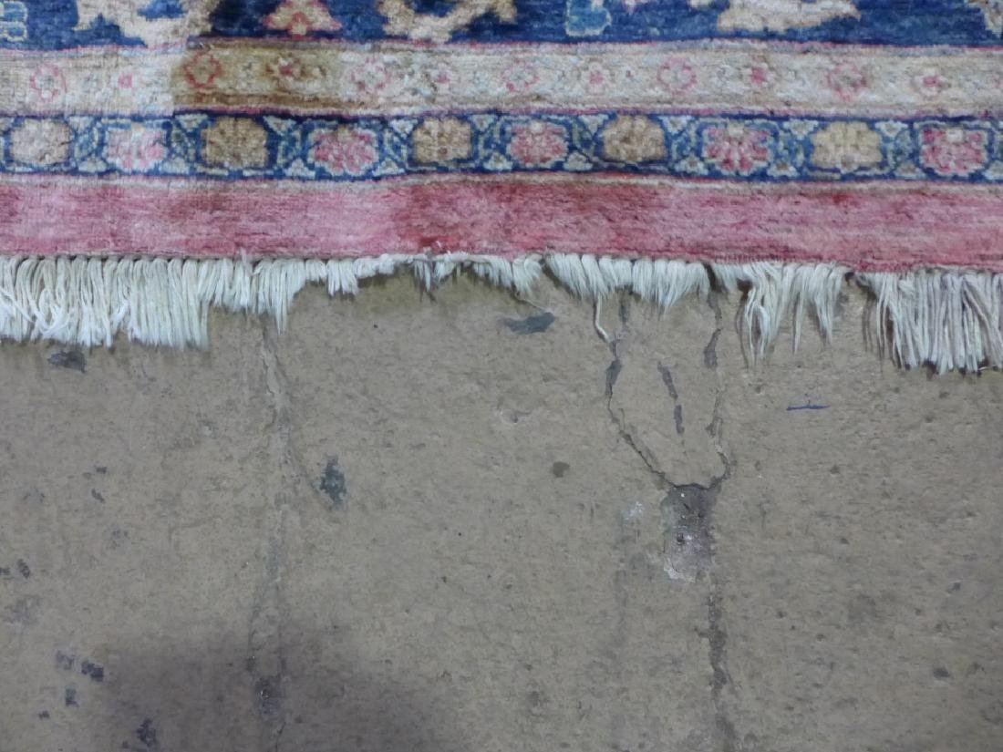 Silk on Cotton Rug with Floral Motif - 5