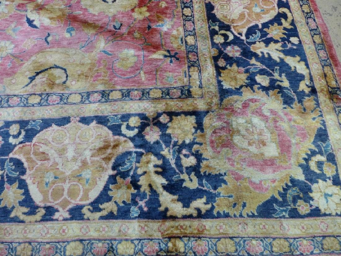 Silk on Cotton Rug with Floral Motif - 6