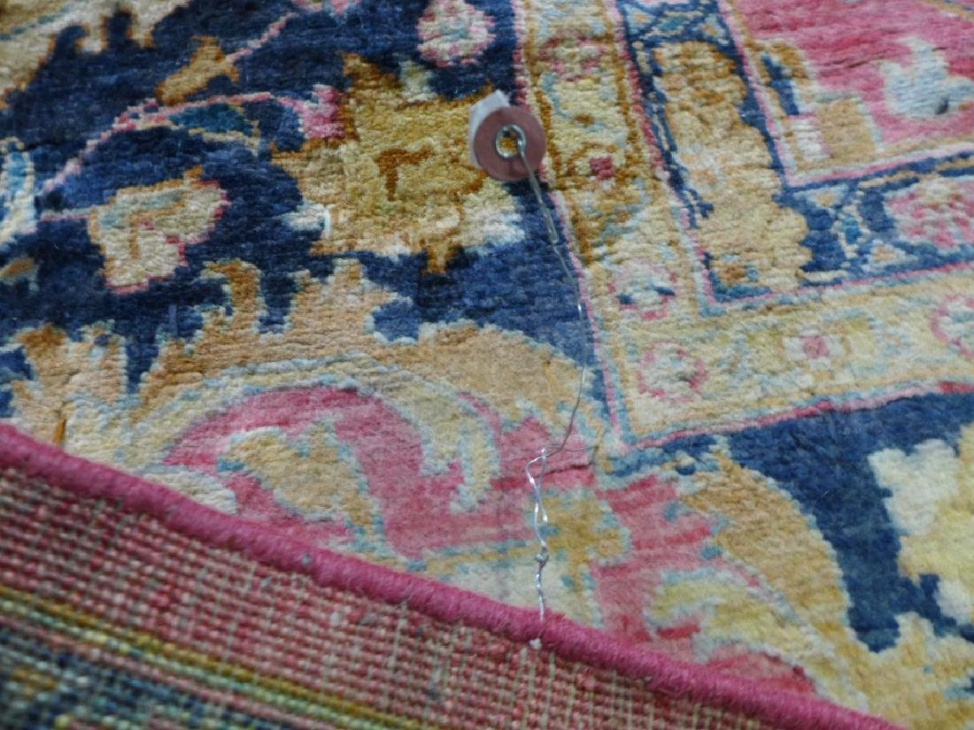 Silk on Cotton Rug with Floral Motif - 7