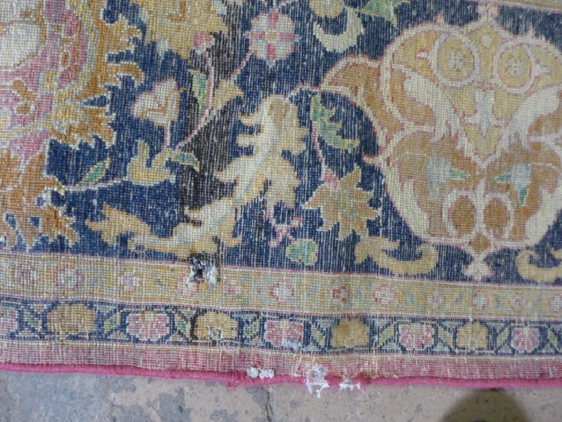 Silk on Cotton Rug with Floral Motif - 9