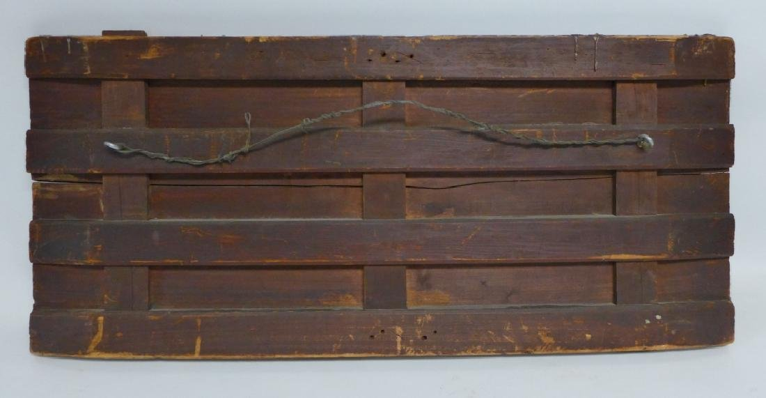 Antique Oil on Plank Chariot Scene - 3