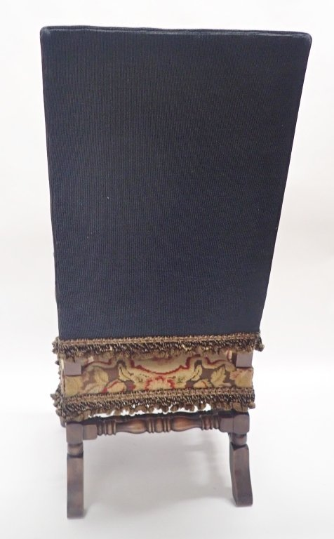 Antique French Tapestry Covered Throne Chair - 4