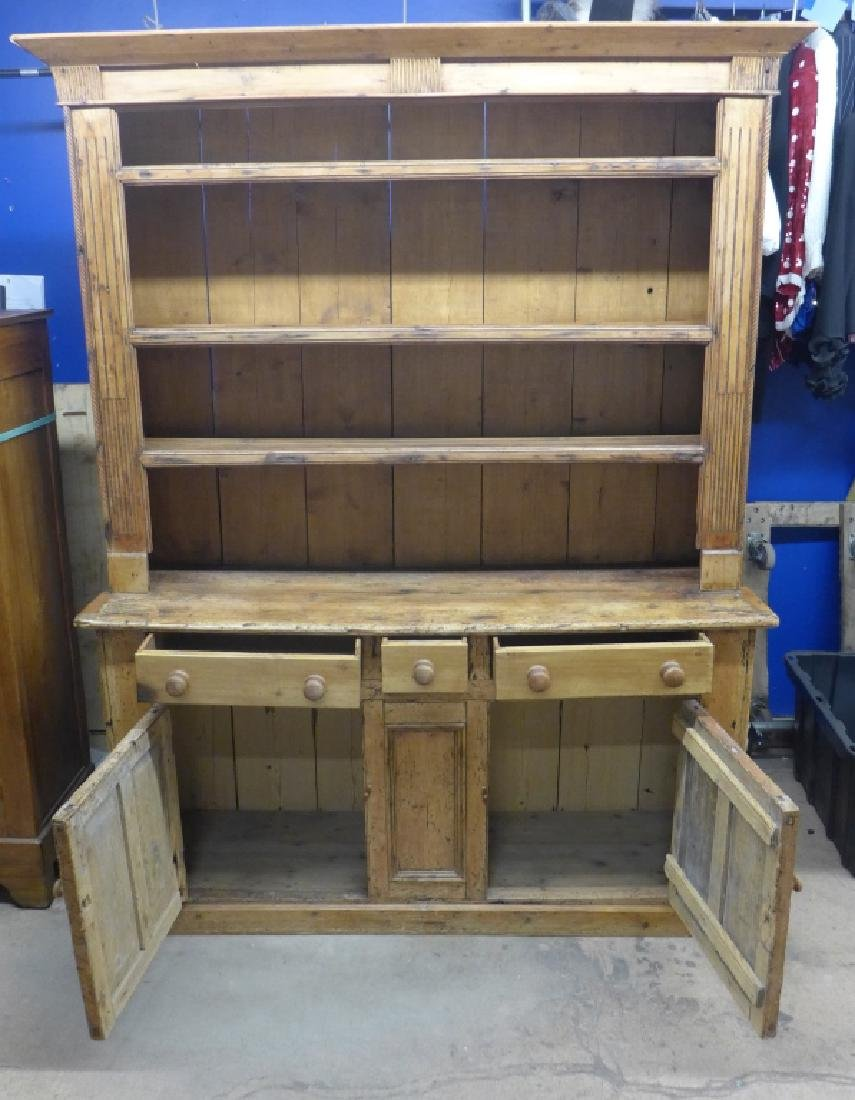 Large Rustic Farmhouse Welch Pine Cupboard - 2