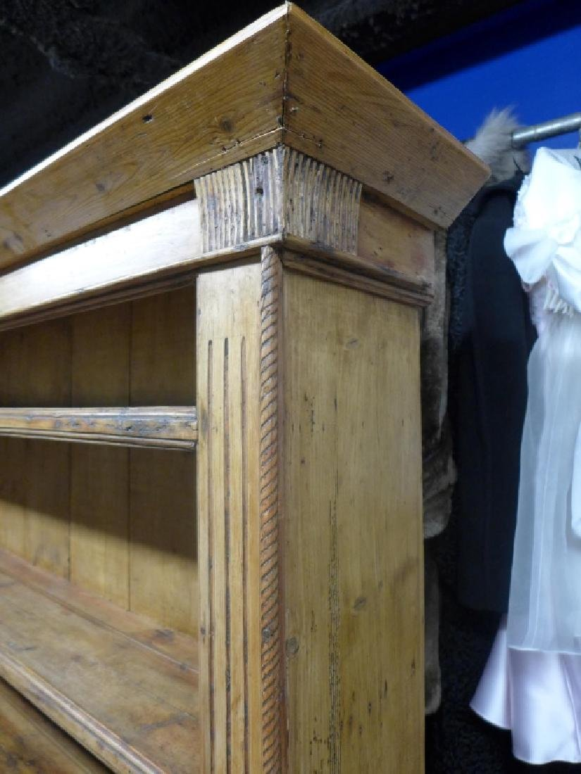Large Rustic Farmhouse Welch Pine Cupboard - 5