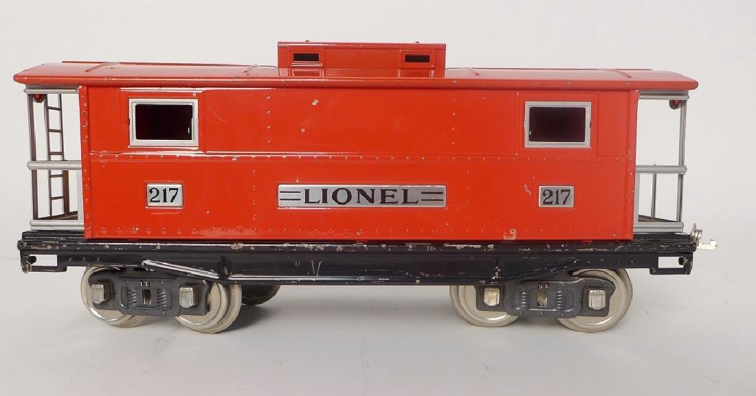 Vintage Lionel Trains Cars 212, 217, 214R, 220 - 2