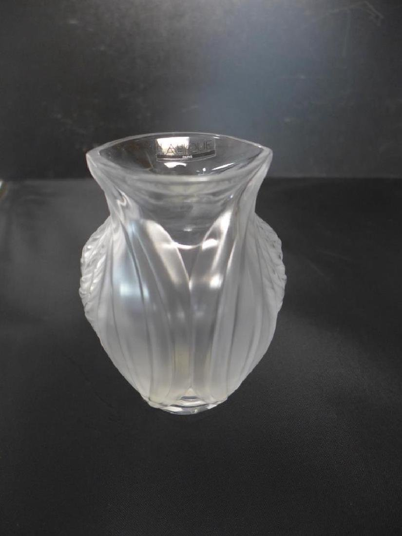 Pavie by Lalique Frosted Crystal Vase - 8