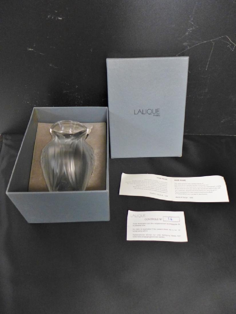 Pavie by Lalique Frosted Crystal Vase - 9