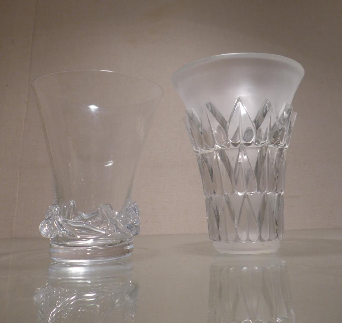 Art Deco Style Signed Glass Vases - 10