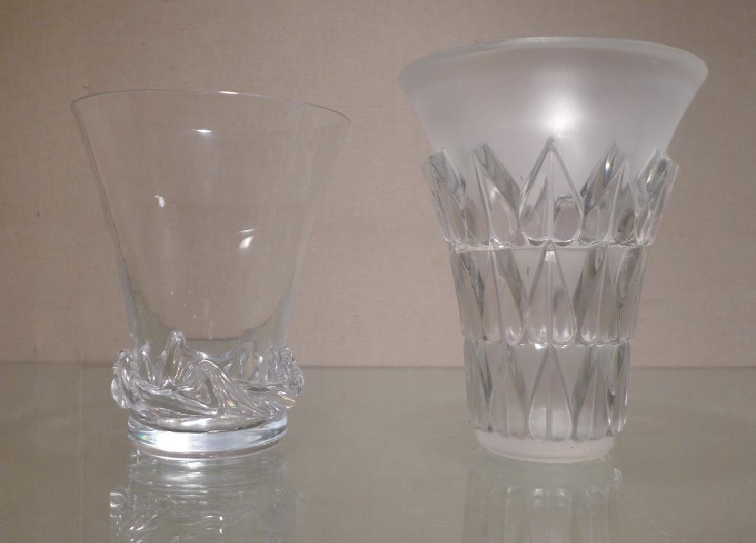 Art Deco Style Signed Glass Vases