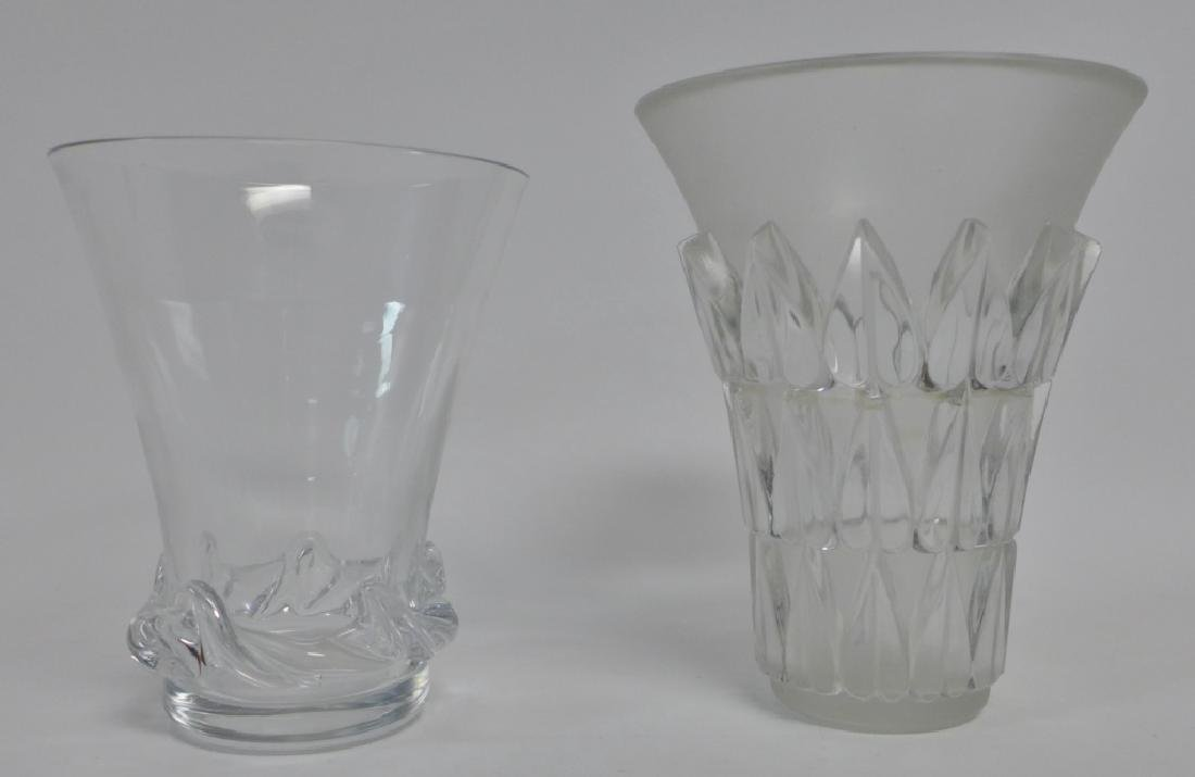 Art Deco Style Signed Glass Vases - 2