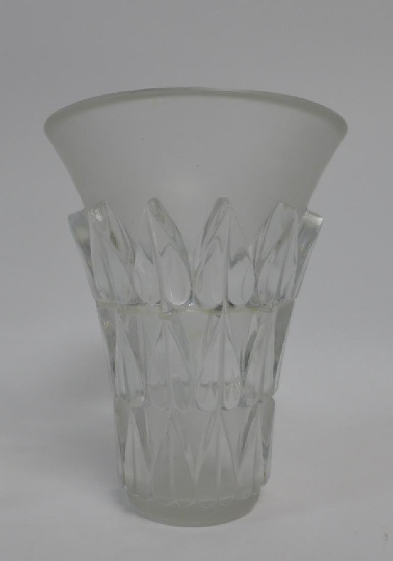 Art Deco Style Signed Glass Vases - 4