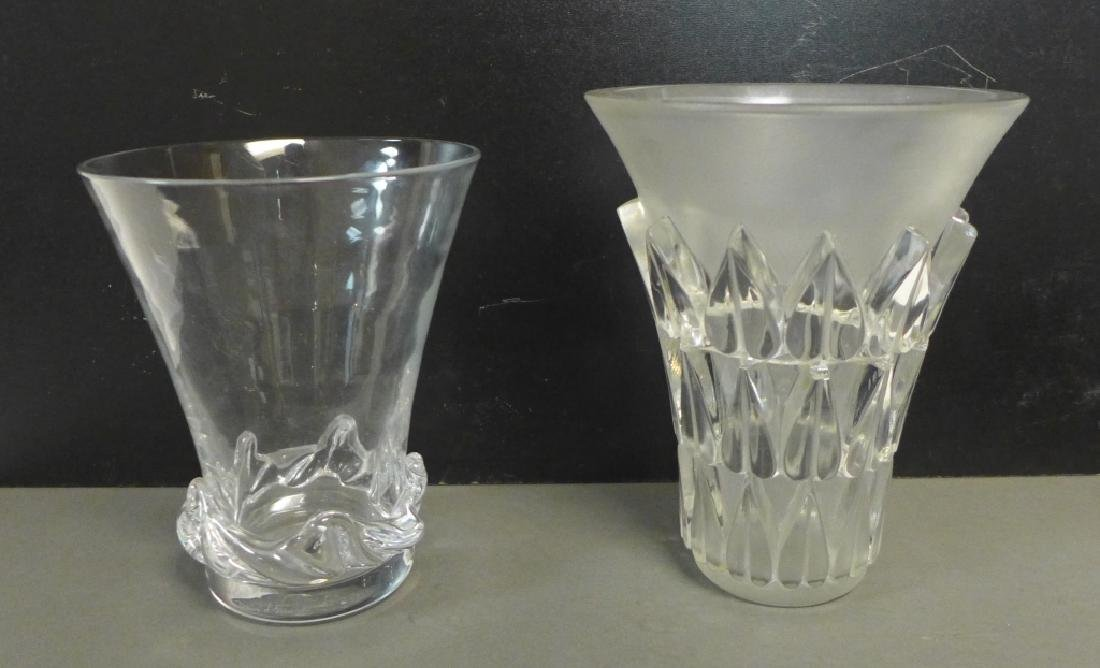 Art Deco Style Signed Glass Vases - 9