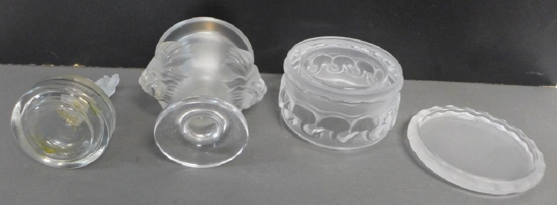 Collection of Signed Frosted Art Glass Pieces - 6