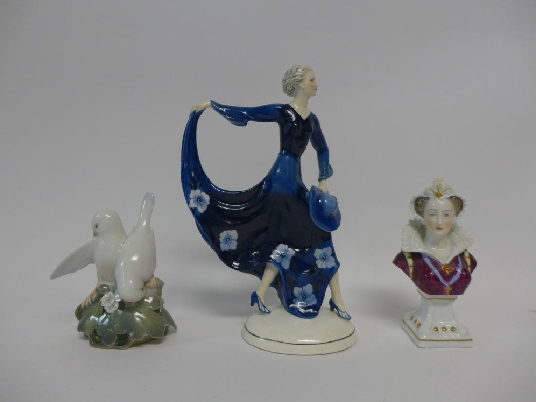 Vintage Signed Porcelain Figurine Collection - 9