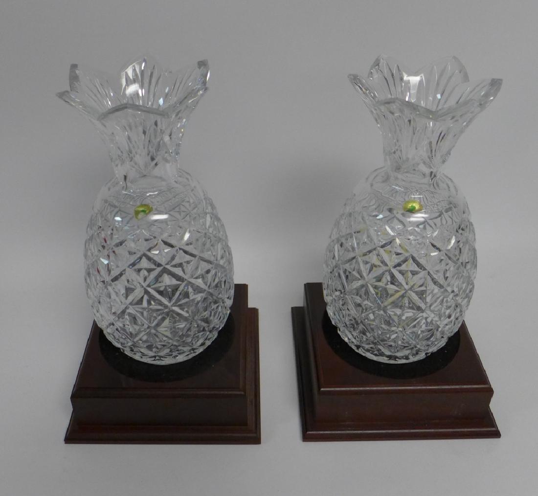 Waterford Cut Crystal Pineapple Vase Pair