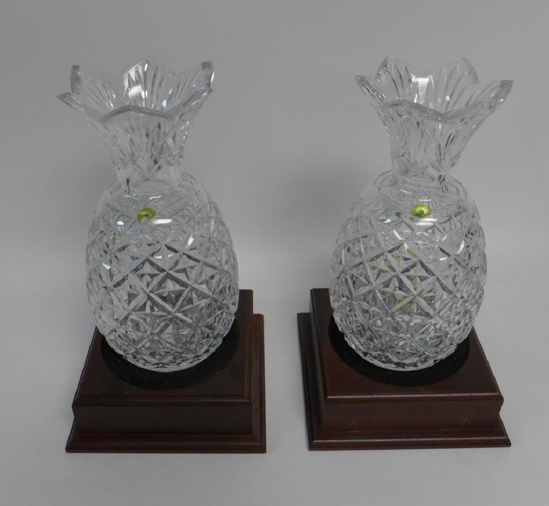 Waterford Cut Crystal Pineapple Vase Pair