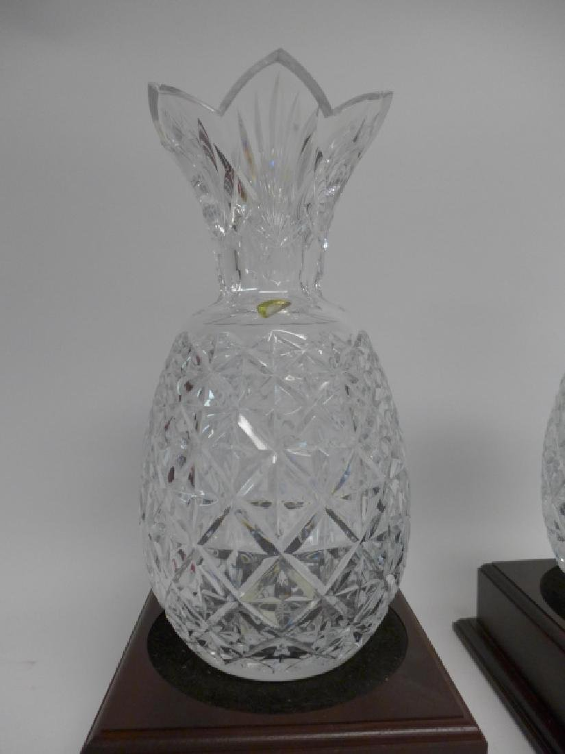 Waterford Cut Crystal Pineapple Vase Pair - 2