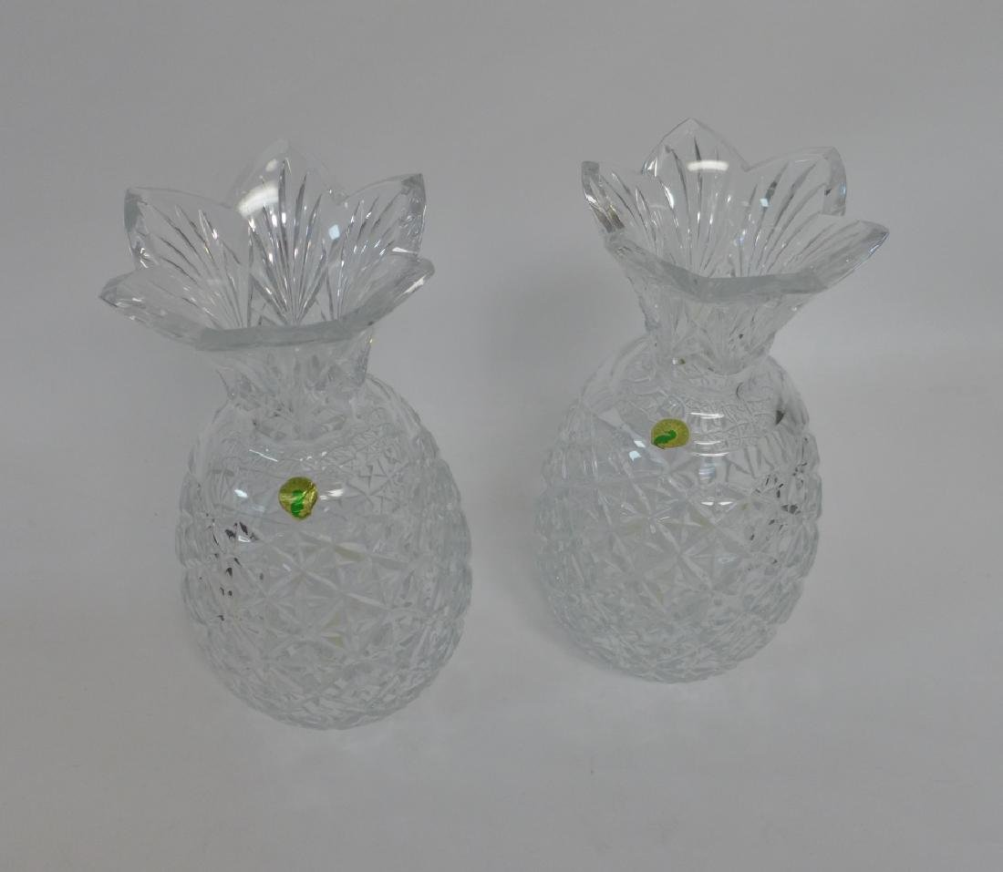 Waterford Cut Crystal Pineapple Vase Pair - 5
