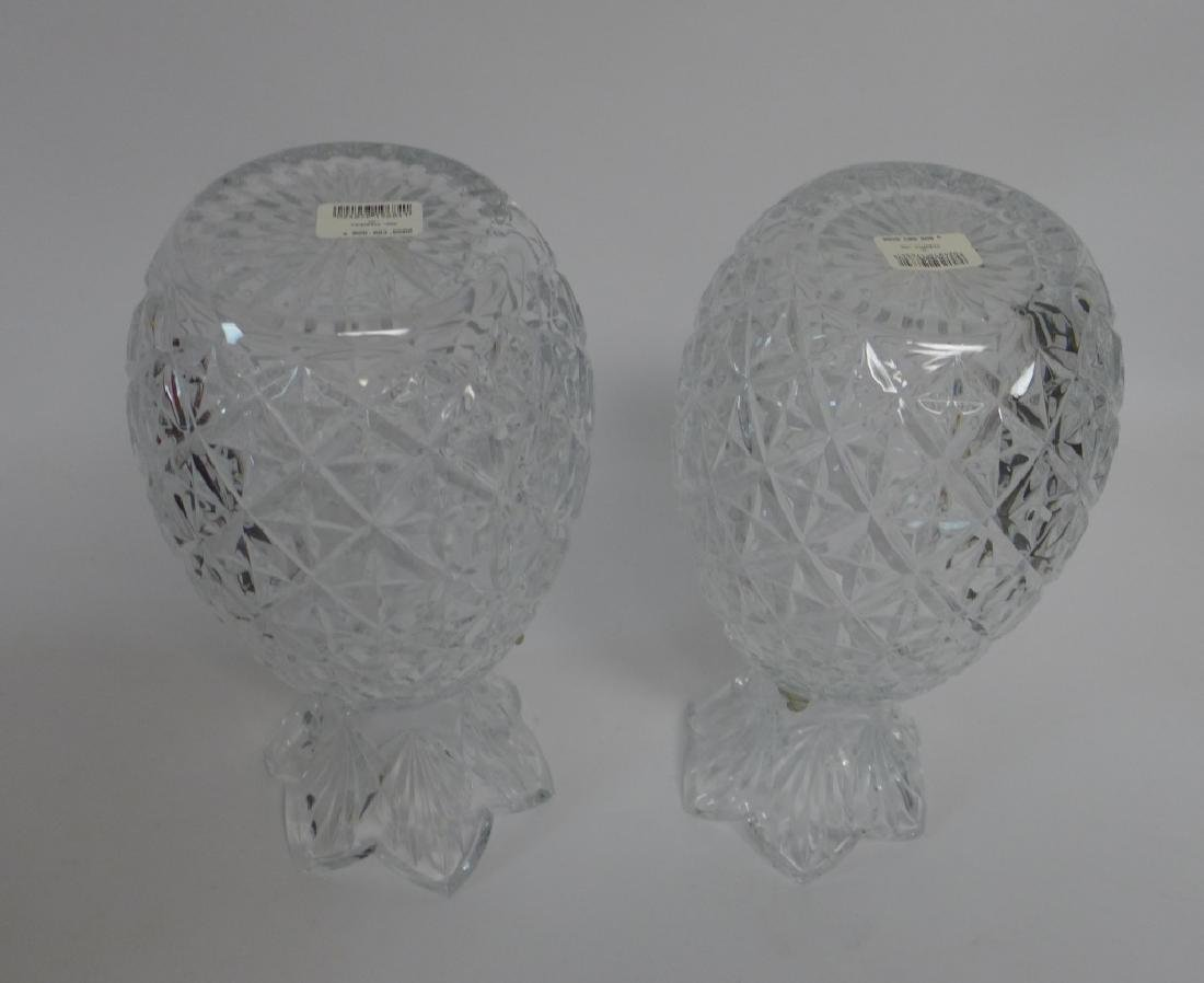 Waterford Cut Crystal Pineapple Vase Pair - 7