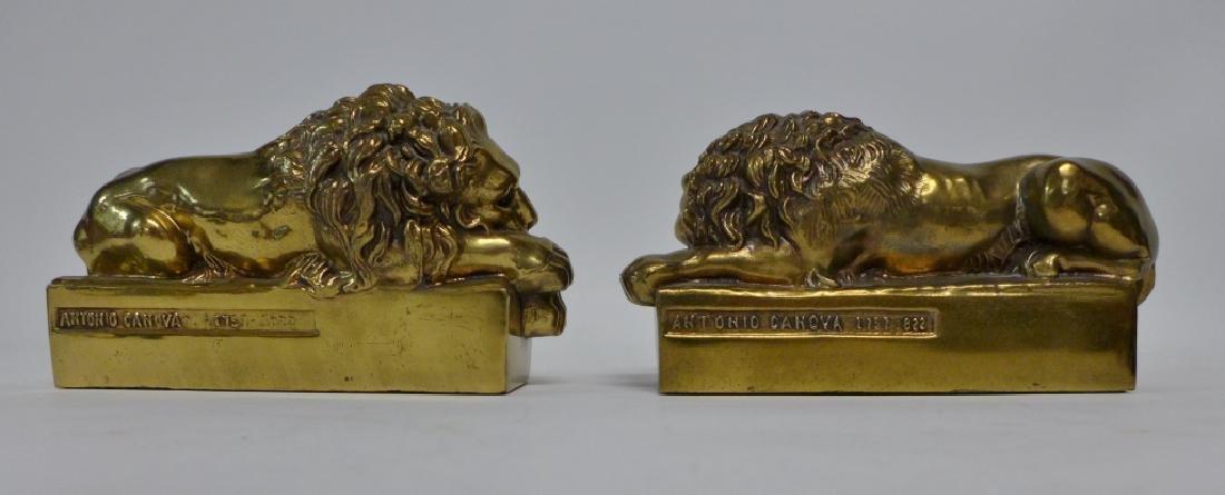 Antonio Canova Vintage Lion Bookends - 3