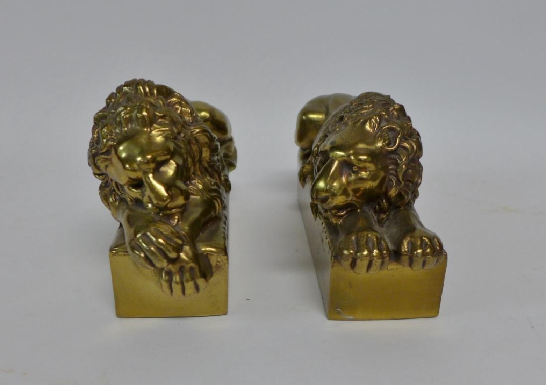 Antonio Canova Vintage Lion Bookends - 5