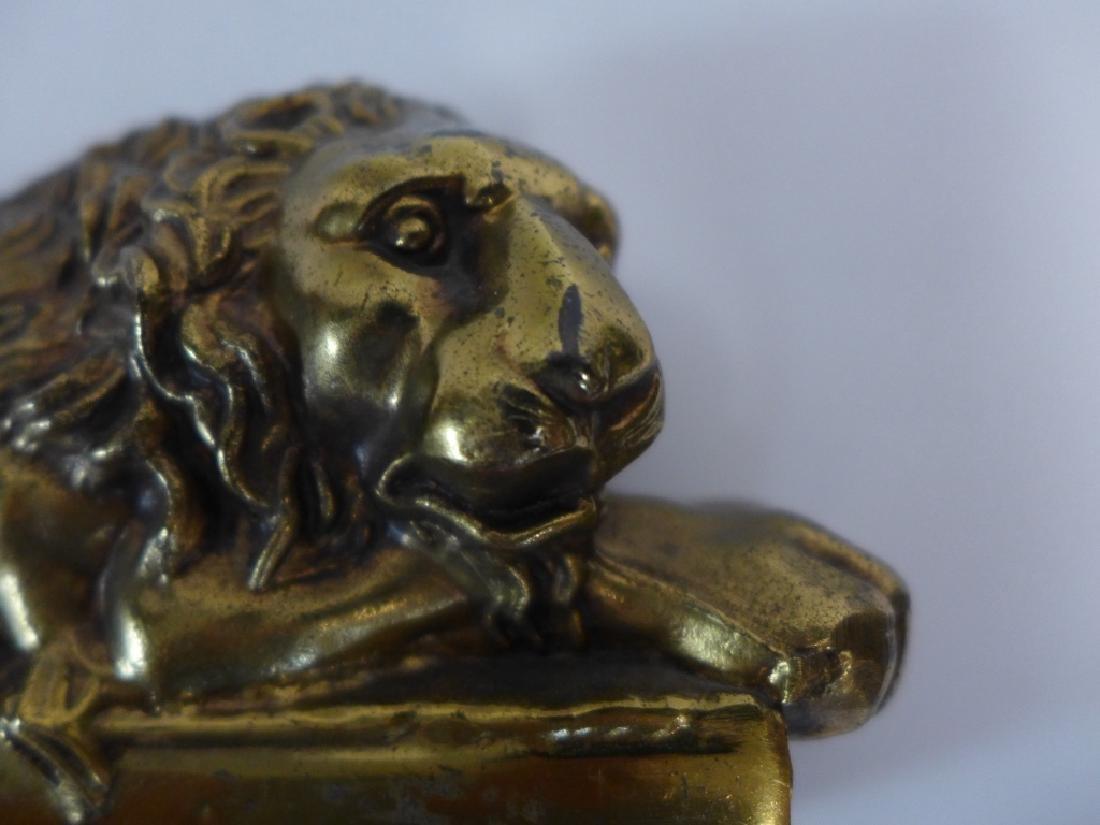 Antonio Canova Vintage Lion Bookends - 8