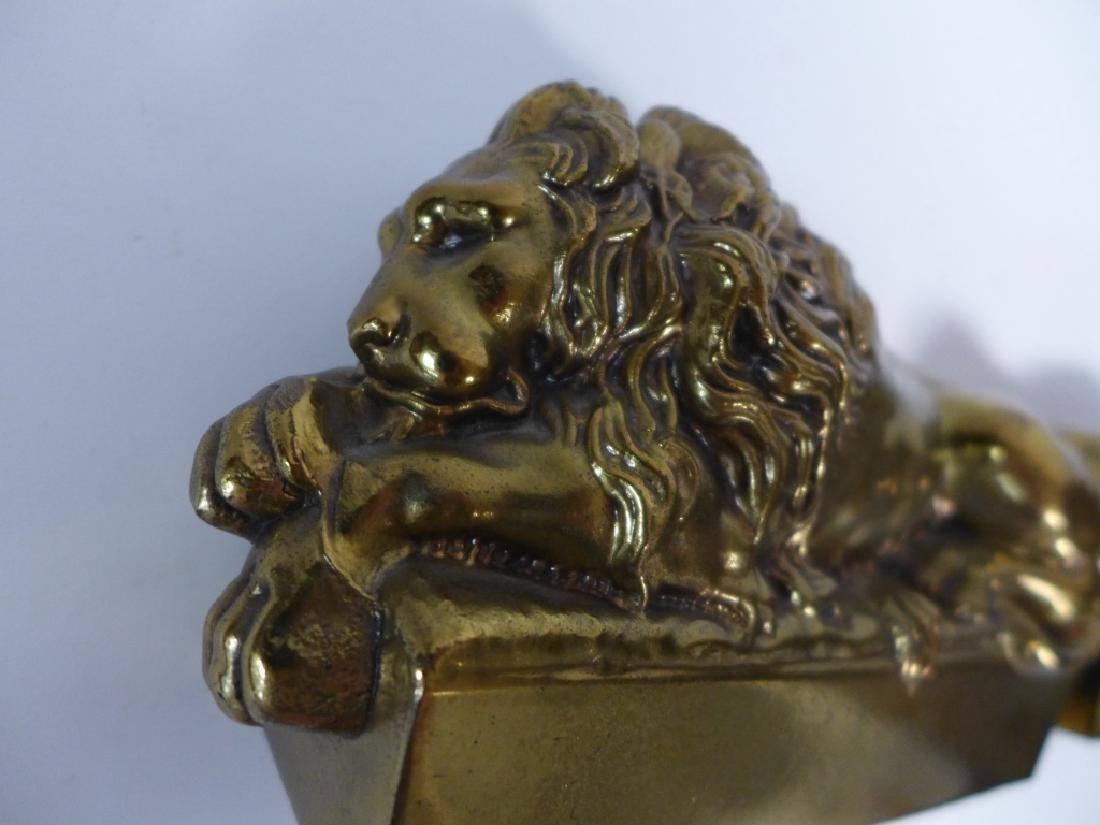 Antonio Canova Vintage Lion Bookends - 9