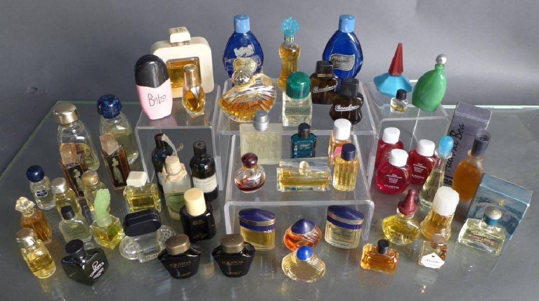 Assorted Miniature Perfume & Cologne Bottles - 10