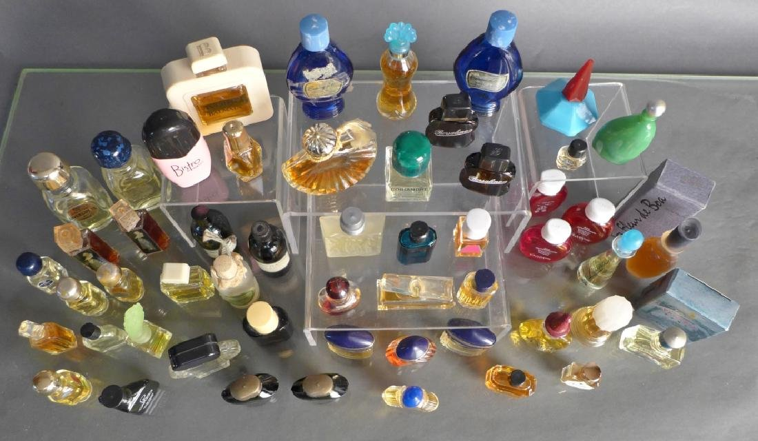 Assorted Miniature Perfume & Cologne Bottles - 9