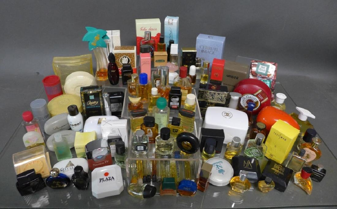 Assortment of Miniature Perfume Bottles
