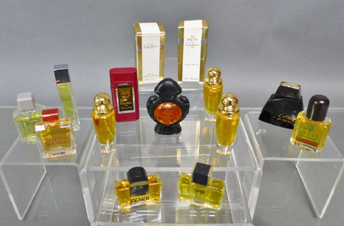 Cartier, Gucci & Fendi Miniature Perfume Bottles