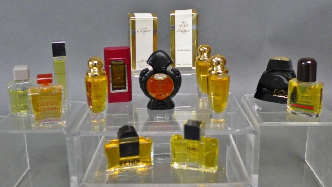 Cartier, Gucci & Fendi Miniature Perfume Bottles - 7